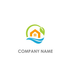 Eco house environment logo vector