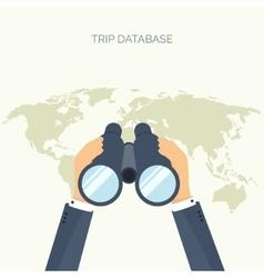 Flat background Navigation vector image