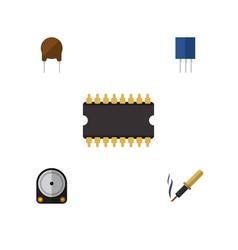 Flat electronics set of repair triode vector