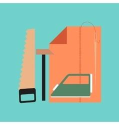 flat icon on stylish background work lesson vector image