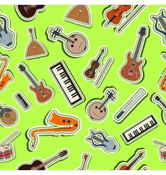 flat music instruments background concept vector image