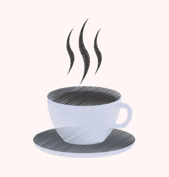 Flat shading style icon cup of coffee vector