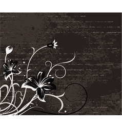 floral with grunge vector image vector image