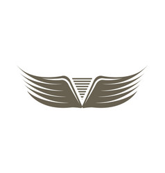fly double wings isolated emblem vector image