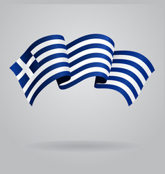 Greek waving Flag vector image