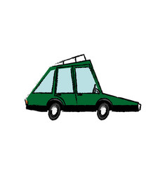 Green car vehicle transport motor wheel speed vector
