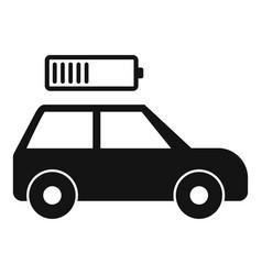 Half car battery icon simple style vector