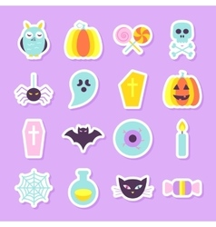Halloween Party Stickers Set vector