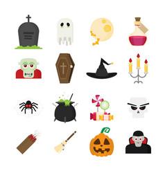 halloween symbol set vector image