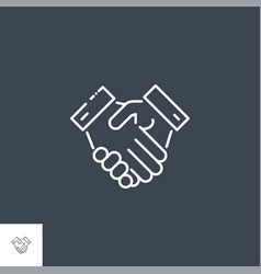 handshake related line icon vector image