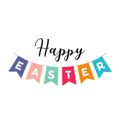 happy easter banner and vector image
