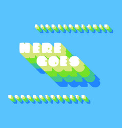 Here goes font alphabet vector