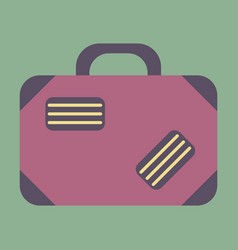 Icon in flat design for airport suitcase vector