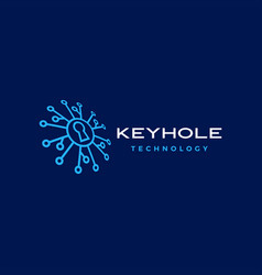 key hole security technology digital perspective vector image
