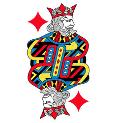 king of diamonds isolated french version vector image