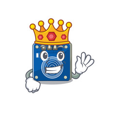 King touch sensor toy above cartoon chair vector