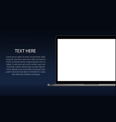 laptop banner vector image