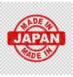 made in japan red stamp on isolated background vector image vector image