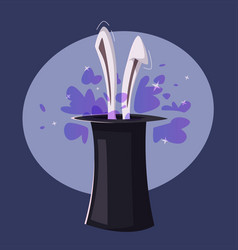 magic trick rabbit in a hat vector image