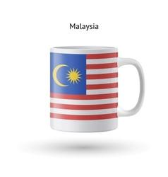 Malaysia flag souvenir mug on white background vector