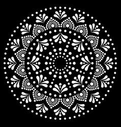 Mandala dot painting design - aboriginal vector