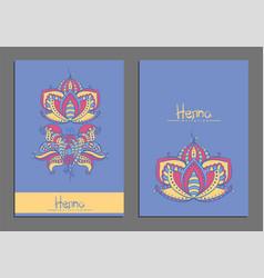 mehndi flowers vector image
