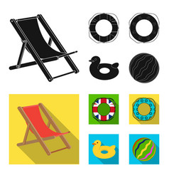 Multicolored swimming circle black flat icons in vector