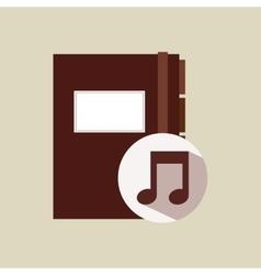Musical directory design vector