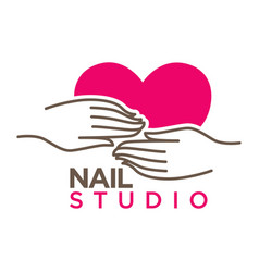 nails studio or manicure salon flat icon vector image