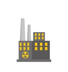nuclear plant factory building vector image