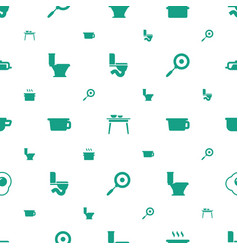 Pan icons pattern seamless white background vector