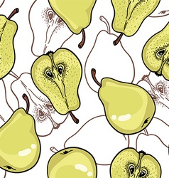 Pear Pattern background vector image