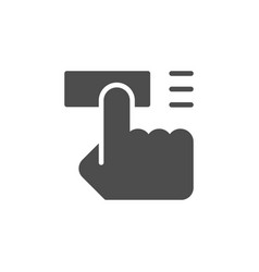 pushing or press button icon vector image