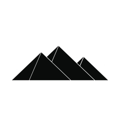 pyramids egypt icon simple style vector image