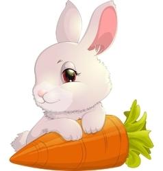 rabbit on carrot vector image