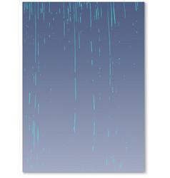 Rain falling water drops texture nature rainfall vector