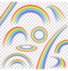 Rainbows Transparent Set vector image