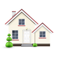 Realistic house with garage vector
