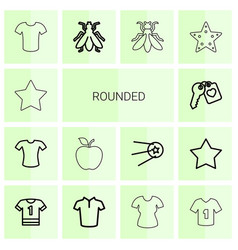 rounded icons vector image