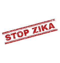 Scratched textured stop zika stamp seal vector