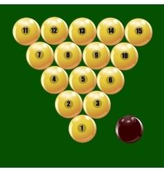 Set of balls to play Russian billiards vector