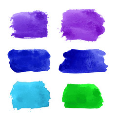 Set of navy turquoise blue violet green vector