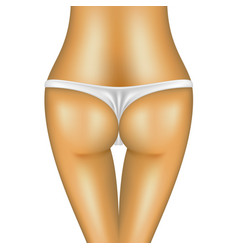 sexy bum of woman in white bikini vector image