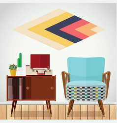 Small space living room vector