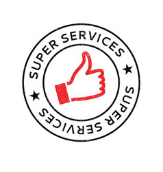 super services rubber stamp vector image