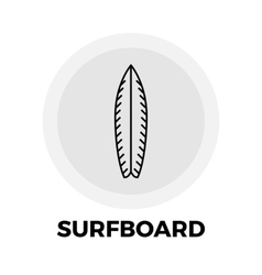 Surfboard Line Icon vector image