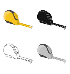 tape measure icon in cartoon style isolated on vector image