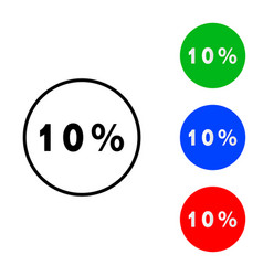 ten percent icon vector image