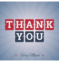 Thank You Very Much vector image