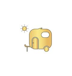 Trailer computer symbol vector